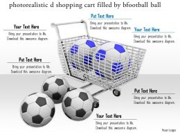 0814 Shopping Cart Filled By Footballs For Shopping Image Graphics For Powerpoint