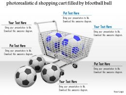 0814 Shopping Cart Footballs To Show Shopping Graphics For Powerpoint