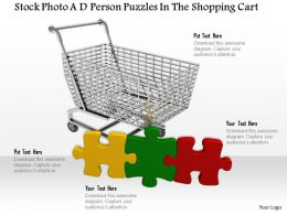 0814 Shopping Cart Puzzle Pieces For Strategy Shopping Graphics For Powerpoint