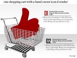 0814 Shopping Cart With Hand Icon Concept Assurance Shopping Image Graphics For Powerpoint