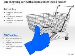 0814 Shopping Cart With Hand Icon For Assurance Shopping Image Graphics For Powerpoint