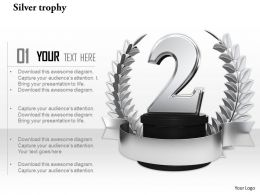 0814 Silver Trophy For Championship Achievements Concepts Image Graphics For Powerpoint