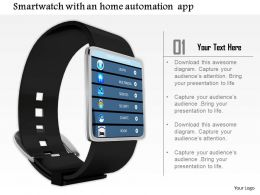 0814 Smart Watch With Multiple Applications Image Graphics For Powerpoint