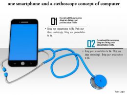 0814 Smartphone And Stethoscope Concept Of Computer Repair And Medical Technologies Image Graphics For Powerpoint