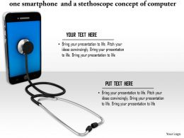0814 Smartphone And Stethoscope Concept Of Computer Repair Or Medical Technologies Image Graphics For Powerpoint