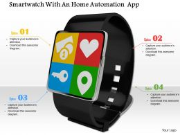 0814 Smartwatch With Multiple Application Image Graphics For Powerpoint