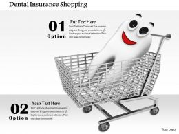 0814 Smiley Teeth Graphic In Shopping Cart For Business And Health Theme Image Graphics For Powerpoint