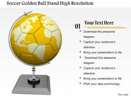 0814 Soccer Ball On Stand Shows Game Theme Image Graphics For Powerpoint