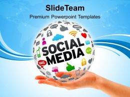 0814 Social Media Powerpoint Templates Ppt Backgrounds For Slides