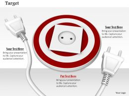 0814 Socket On Dart With One White Plug Image Graphics For Powerpoint