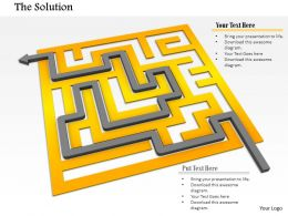 0814 Solution Path With Golden Maze For Problem Solving Image Graphics For Powerpoint