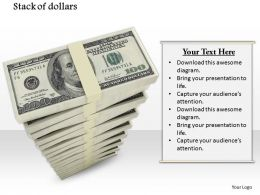 0814 Stack Of Dollar Bundles For Finance Concepts Image Graphics For Powerpoint