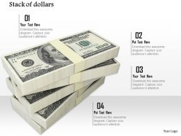 0814 Stack Of Dollars Currency For Finance Image Graphics For Powerpoint
