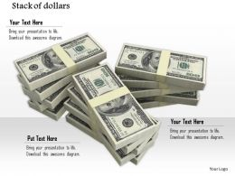 0814 Stack Of Dollars For Finance Money Concepts Image Graphics For Powerpoint