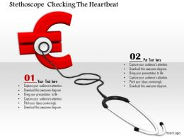 0814 Stethoscope Euro Symbol For Finance Health Concept Image Graphics For Powerpoint