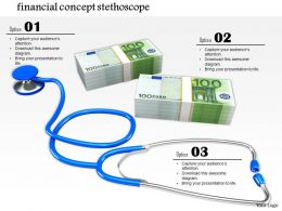 0814 Stethoscope Testing Euro Finance Concept Graphic Image Graphics For Powerpoint