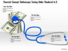 0814 Stethoscope With Dollar Currency For Finance Image Graphics For Powerpoint