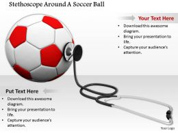 0814 Stethoscope With Football Game And Health Image Graphics For Powerpoint