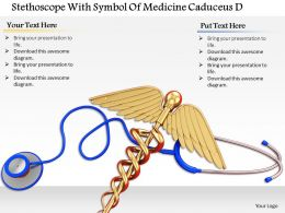 0814 Stethoscope With Symbol Of Medicine Caduceus Diagram Image Graphics For Powerpoint