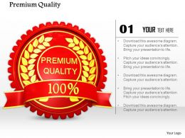 0814 Symbol Of Premium Quality Of Product Image Graphics For Powerpoint