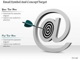 0814 Target Dart Inside A Email Symbol Arrow Hitting The Center Image Graphics For Powerpoint