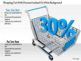 0814 Thirty Percent Discount Value With Shopping Cart Image Graphics For Powerpoint