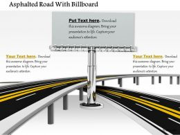 0814 Two Roads With One Billboard In The Middle Shows Marketing And Time Line Image Graphics For Powerpoint