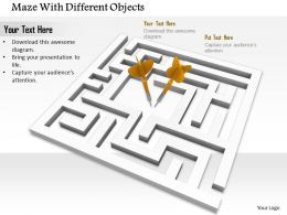 0814_two_yellow_arrows_in_the_middle_of_maze_to_show_solution_image_graphics_for_powerpoint_Slide01