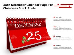 0914 25th December Calendar Page For Christmas Stock Photo