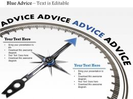 0914 3d Advice Meter Blue Arrow Image Graphics For PowerPoint