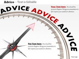 0914 3d Advice Meter With Arrow Image Graphics For PowerPoint