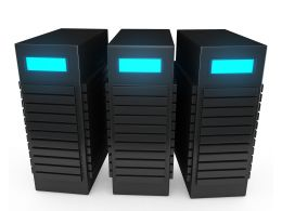 0914 3d Black Computer Servers For Workstations Concept Stock Photo