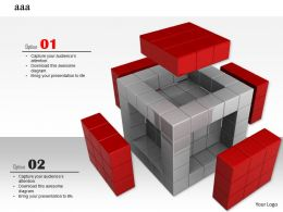 0914 3d Block Business Strategy Image Slide Image Graphics For Powerpoint