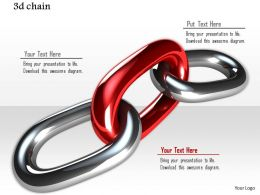 0914 3d Chain For Leadership Concept Image Slide Image Graphics For Powerpoint