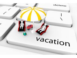 0914 3d Couple Sitting On Vacation Key Stock Photo