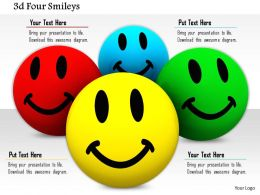 0914 3d Four Colorful Smileys Image Slide Image Graphics For Powerpoint