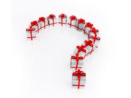 0914 3d Gift Boxes In Shape Of Question Mark Stock Photo