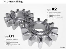 0914 3d Glossy Grey Gears In Working Image Graphics For PowerPoint