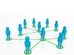 0914 3d Men Network Social People Connection Communication Stock Photo