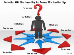 0914 3d Men With Question Mark Blue Arrows Image Graphics For PowerPoint
