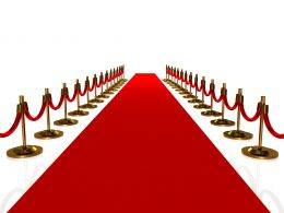 0914 3d Red Carpet Path To Success Stock Photo