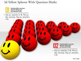 0914 3d Red Smiley Faces One Yellow Face Image Graphics For PowerPoint