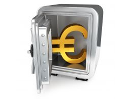 0914 3d Safe With Euro Symbol For Safety Stock Photo