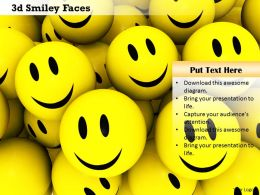 0914 3d Smiley Faces Customer Satisfaction Concept Image Slide Image Graphics For Powerpoint