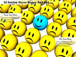 0914 3d Smiley Faces Happy And Sad Image Slide Image Graphics For Powerpoint