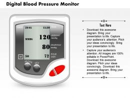 0914 A Digital Blood Pressure Monitor Medical Images For PowerPoint