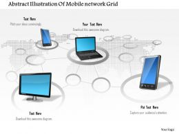 0914 Abstract Illustration Of Mobile Network Grid Ppt Slide