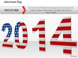 0914 American Flag 2014 Year Image Slide Image Graphics For Powerpoint