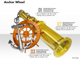 0914 Anchor Wheel And Binocular Image Slide Image Graphics For Powerpoint