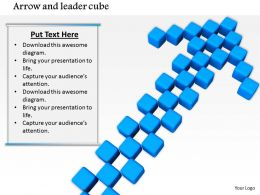 0914 Arrow And Cube Stock Photo Image Slide Image Graphics For Powerpoint